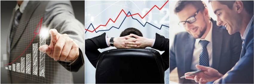 traders operando en el mercado de opciones