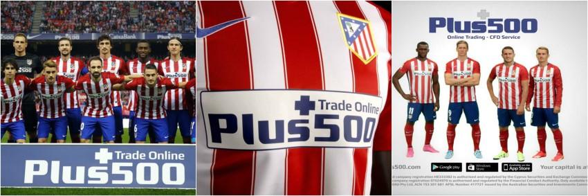 plus500 patrocina al atlético de madrid