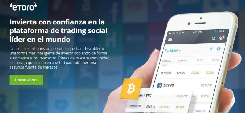 trading con eToro en Colombia