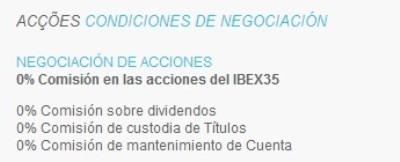 tarifas del ibex35