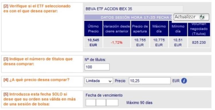 invertir en etfs del IBEX 35 español