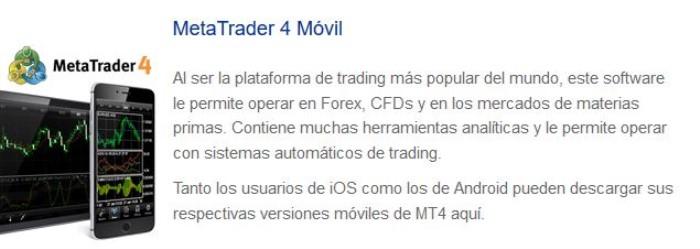 MT 4 plataforma de trading de México