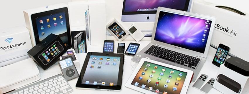gama de productos de apple, desde el iphone hasta las tablets