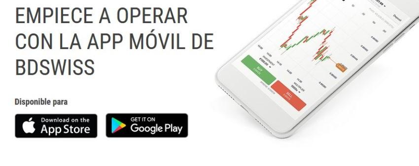 app de móvil de BDSwiss