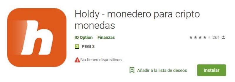 Nota de la app de Hodly