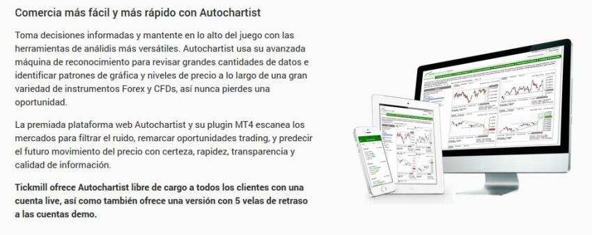 herramienta autochartlist de tickmill en español para México